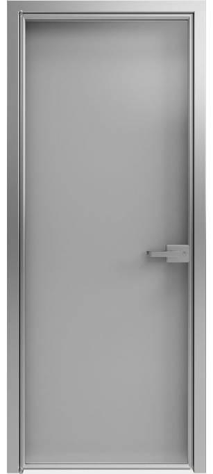 Межкомнатная дверь Софья 1000 Lines А1 T12 Стекло серебро темное
