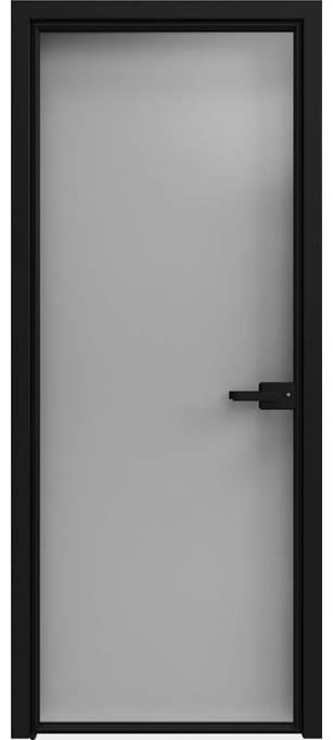 Межкомнатная дверь Софья 1000 Lines А7 T12 Стекло серебро темное