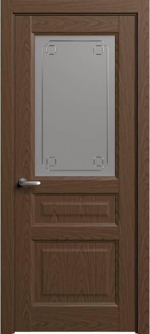 Межкомнатная дверь Софья Мастер и Маргарита Темный дуб, шпон 04.41Г-К4