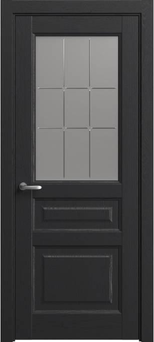 Межкомнатная дверь Софья Мастер и Маргарита Ясень черный, эмаль структурированная 36.41Г-П9