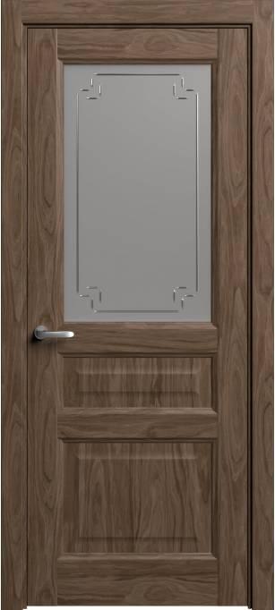 Межкомнатная дверь Софья Мастер и Маргарита Орех, шпон 88.41Г-У4