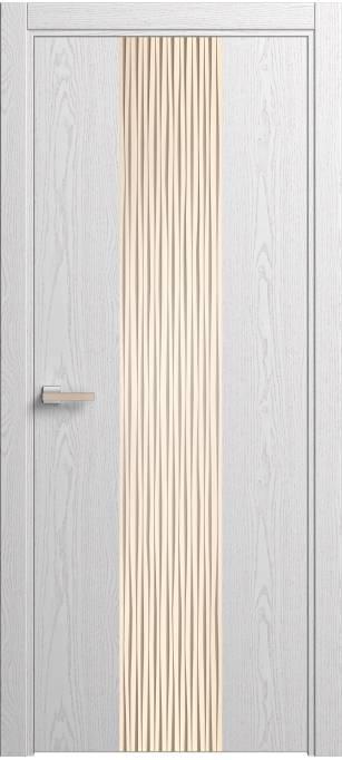 Межкомнатная дверь Софья Rain Ясень белый, шпон 35.21