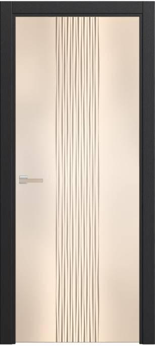 Межкомнатная дверь Софья Rain Ясень черный, шпон 36.22