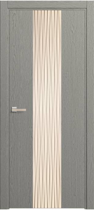 Межкомнатная дверь Софья Rain Серый дуб, натуральный шпон 380.21