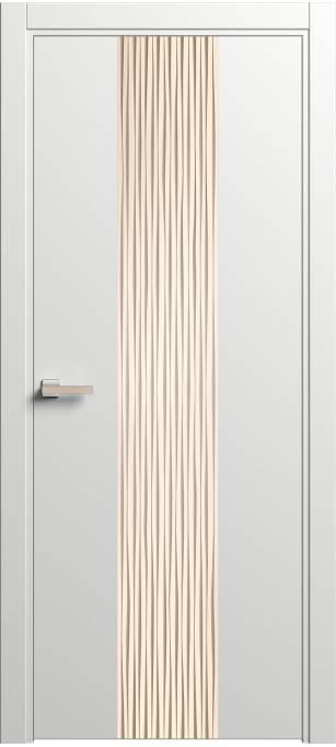 Дверь Софья Rain Белый шелк 90.21