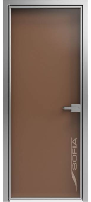 Межкомнатная дверь Софья 1000 Lines А1 T25 Стекло бронза непрозрачная