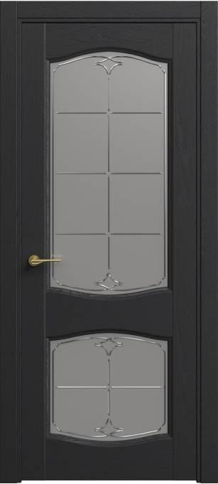 Межкомнатная дверь Софья Classic Ясень черный эмаль структурированная 36.147