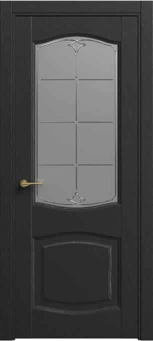 Межкомнатная дверь Софья Classic Ясень черный эмаль структурированная 36.157