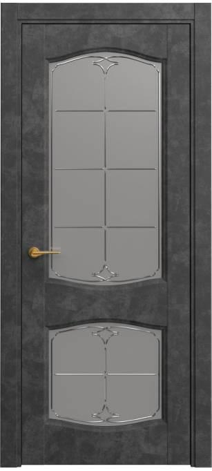 Межкомнатная дверь Sofia Classic Темный бетон, кортекс 231.147