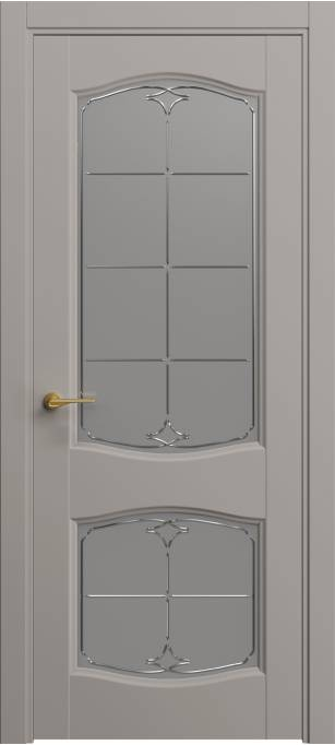 Межкомнатная дверь Софья Classic Темно-серый шелк 330.147