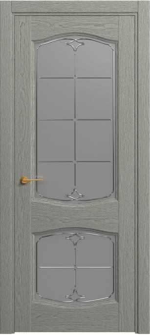 Межкомнатная дверь Софья Classic Серый дуб,натуральный шпон 380.147