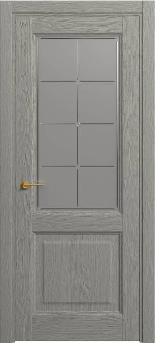 Межкомнатная дверь Софья Classic Серый дуб,натуральный шпон 380.152