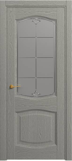 Межкомнатная дверь Софья Classic Серый дуб,натуральный шпон 380.157