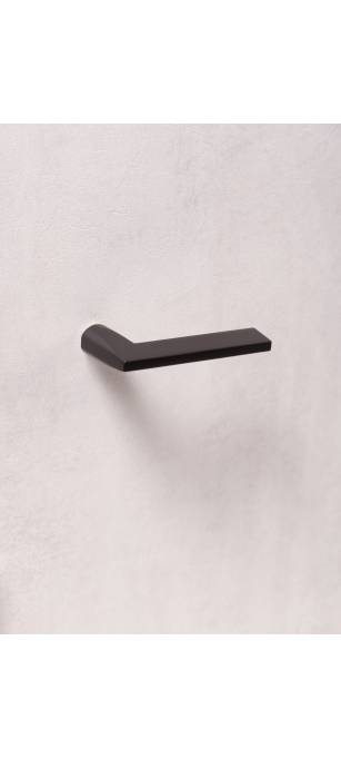 Дизайнерские дверные ручки без розетки ATLANTA Черный матовый