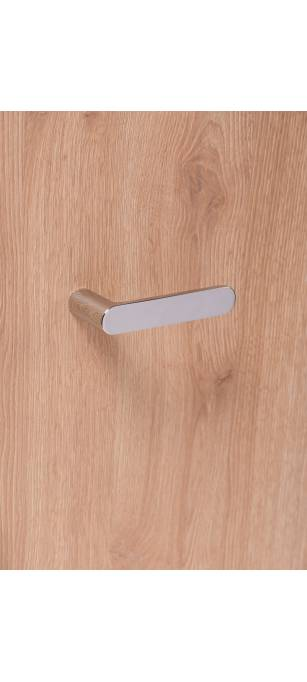 Дизайнерские дверные ручки без розетки Pure Хром глянец
