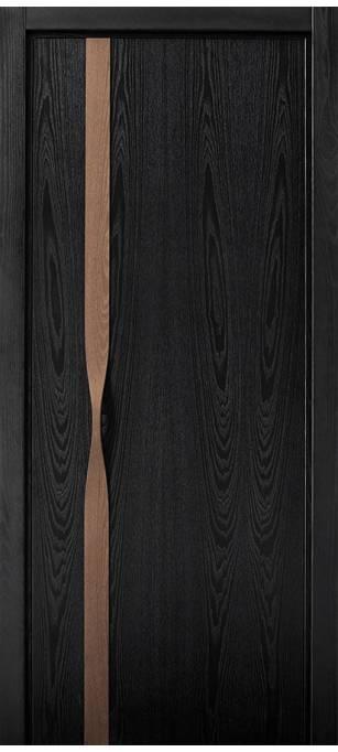 Межкомнатная дверь Софья Manigliona ясень черный 36ОН.91