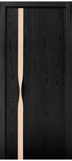 Межкомнатная дверь Софья Manigliona ясень черный 36ЯН.91