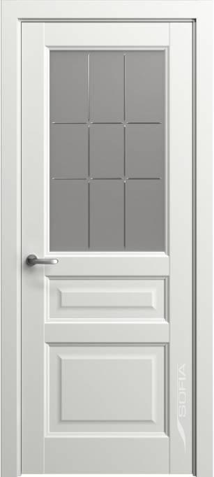 Межкомнатная глянцевая дверь Софья Marvel Белый лак 78.41Г-П9