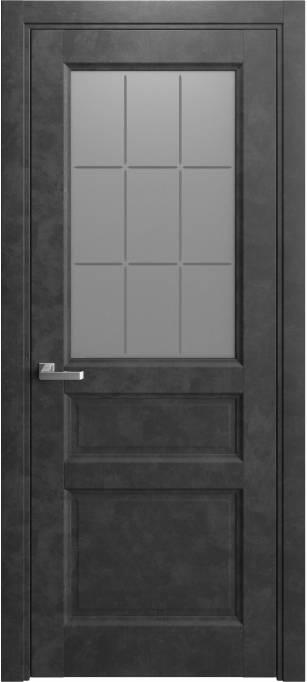 Межкомнатная дверь Elegant Темный бетон 231.159