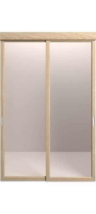Раздвижная перегородка Original со стеклом дуб классический, брашированный шпон