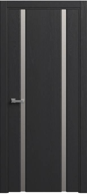 Межкомнатная дверь Sofia Original Ясень черный, эмаль структурированная 36.02