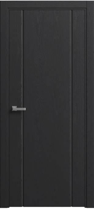 Межкомнатная дверь Sofia Original Ясень черный, эмаль структурированная 36.03