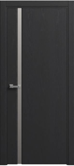 Межкомнатная дверь Sofia Original Ясень черный, эмаль структурированная 36.04