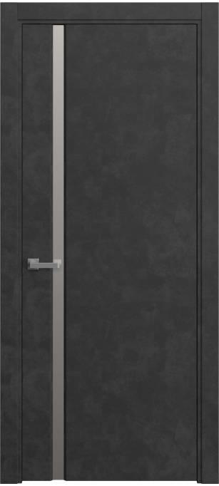 Межкомнатная дверь Sofia Original, Темный бетон, кортекс 231.04