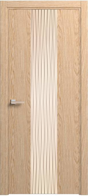 Межкомнатная дверь Софья Rain Дуб классический, брашированный шпон 91.21