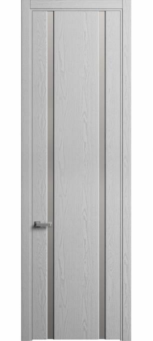 Межкомнатная дверь Софья Skyline Ясень светло-серый, эмаль структурированная 300.102