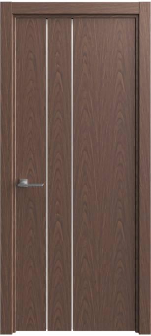 Межкомнатная дверь Софья Vision Дуб темный, шпон 04.44