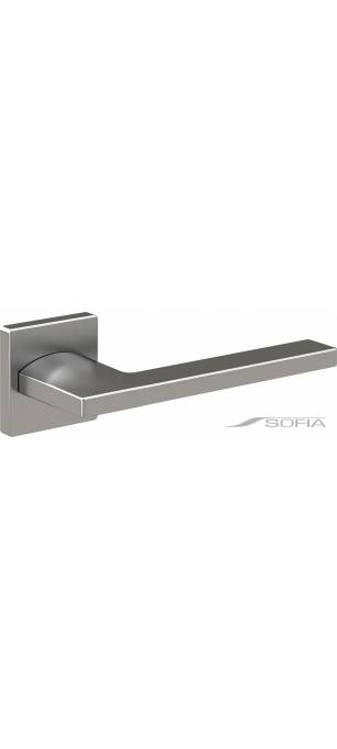Дизайнерские дверные ручки Wing Хром сатинато